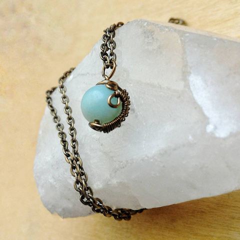 Amazonite Charm Necklace
