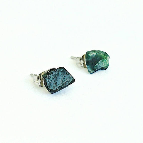 Bloodstone Stud Earrings