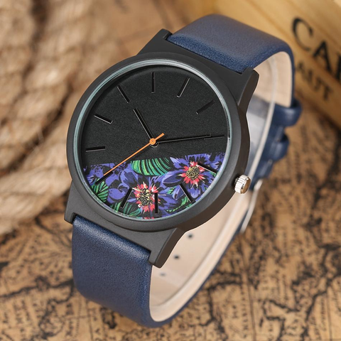 The Clearview -  Genuine Leather Band Watch
