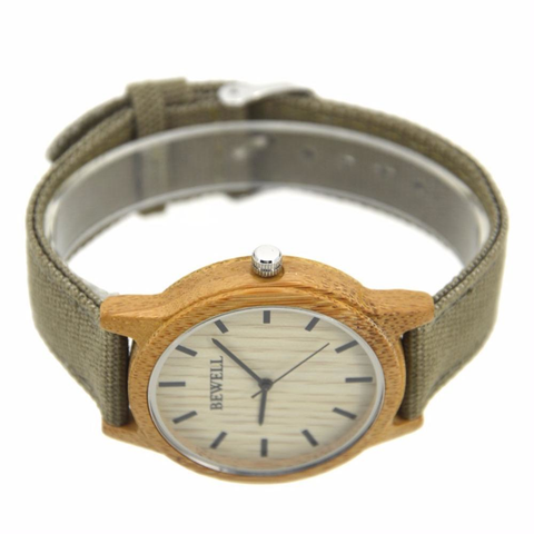 The Nubian Wooden Watch with Canvas Strap