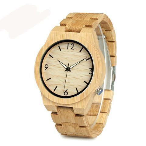 "The ""Str8 Forward"" Wooden Watch"