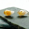 Image of Raw Citrine Stud Earrings