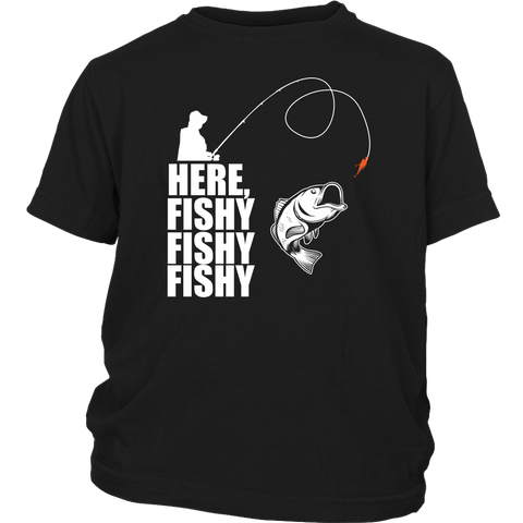 Funny Fishing Tee - Here Fishy! !! !!!
