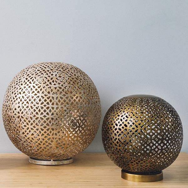Mantra Shiny Gold Globe Lantern - Large