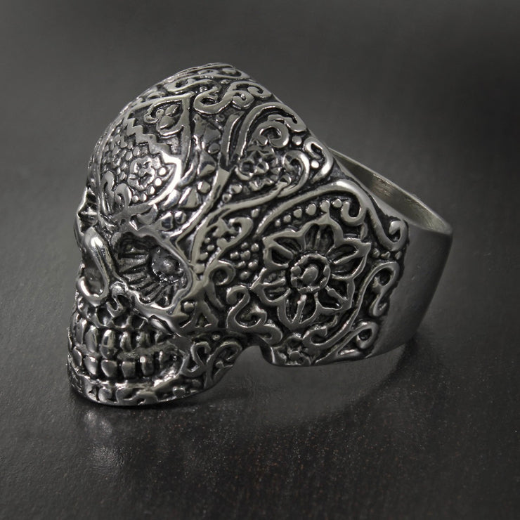 Vince Neil© Sugar Skull Men's Stainless Steel Ring