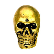 Metal Skull Knob Antique Brass