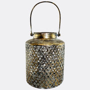 Black, Gold, Slight, Sage, Diamond, Pattern Lantern