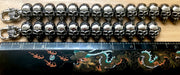 """Wild Side©"" Men's Black Polished Skull Bracelet"