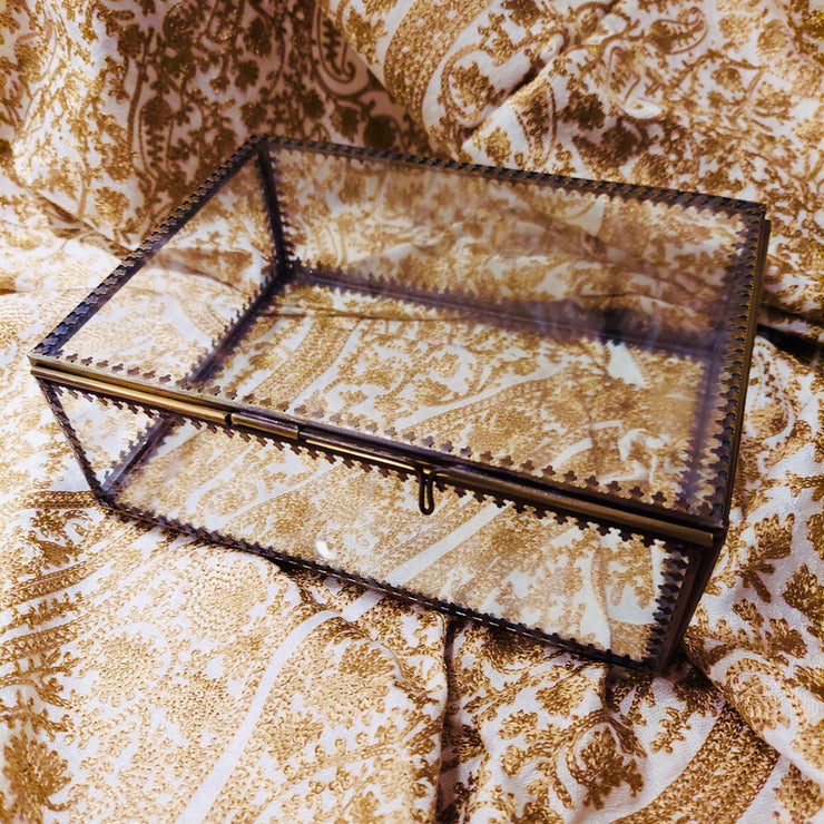 Large Glass Trinket Box