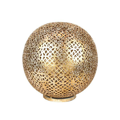 Mantra Shiny Gold Globe Lantern Large