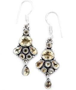 Mela Artisans - Eternal Essence Dangle Earrings in Sterling Silver