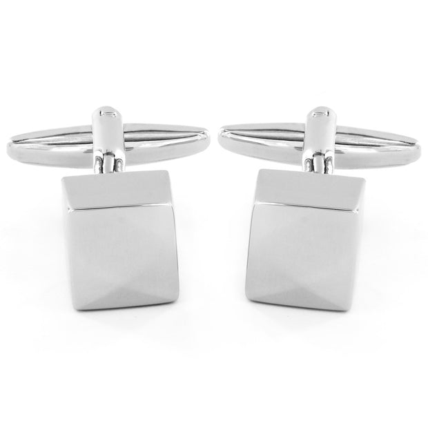 Men's High Polished Cube Cuff Links