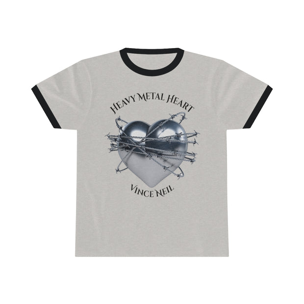 Heavy Metal Heart© Ringer Men's Tees