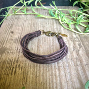 Astali Leather 7 Stand Bracelet