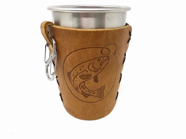 Big Bass Leather & Stainless Steel Pint | HometoNest