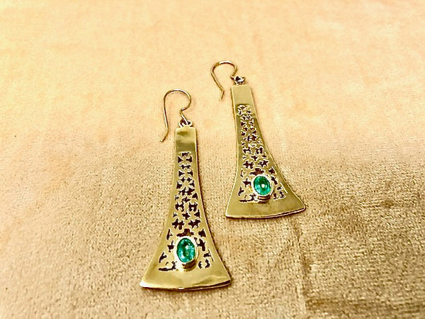 Protection Pendant Gold Amuleto Earrings
