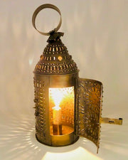 Old Brass Patterned Lantern