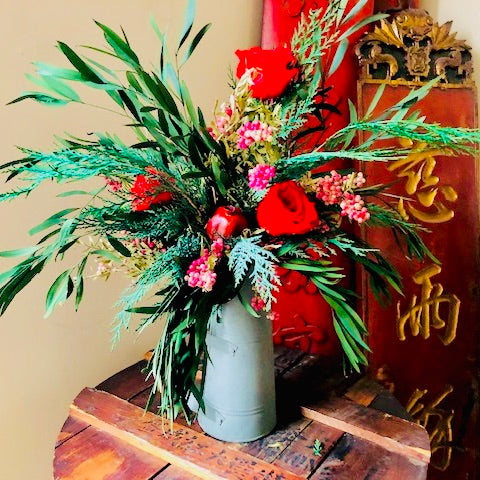 SFI 4Ever Real Winter Flora Very Large Cole Bin Vase