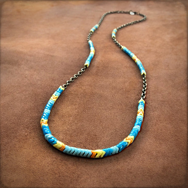 Astali Sunshine Snake Glass Necklace