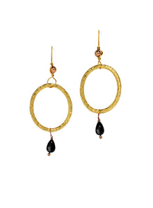 Dazzling Drop Earrings in Black & Gold