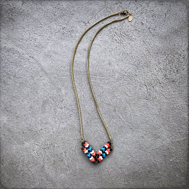 Astali Chevron Necklace Thunderbird