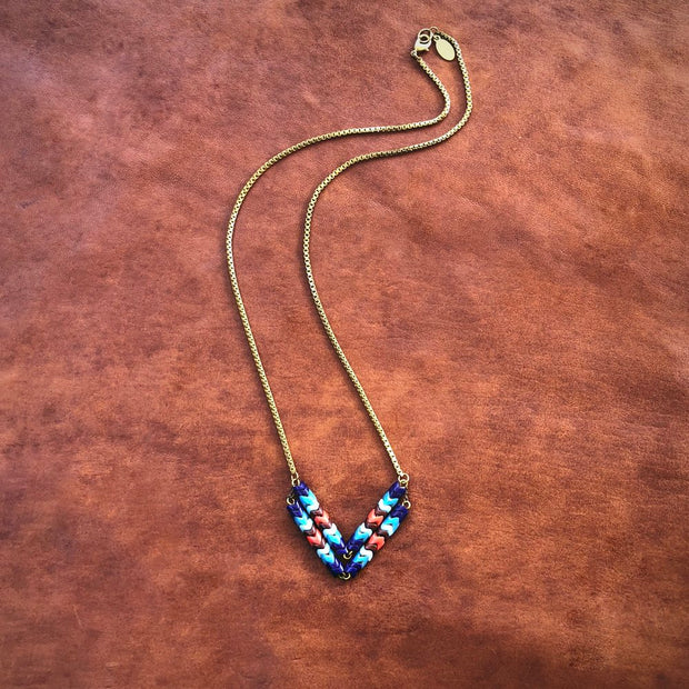 Astali Chevron Necklace Deer Run