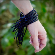 Astali Bohemian Black Leather Multi-Strand Cuff