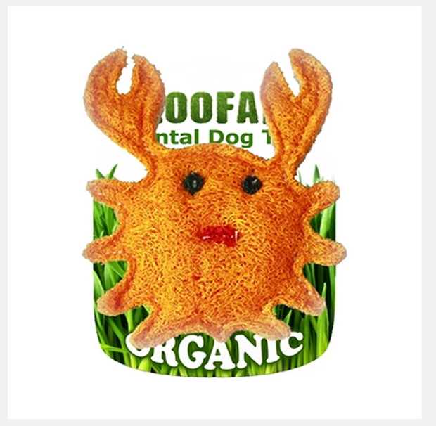 Organic Vegetable Dental Toy Small Crab
