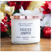Frosted Juniper Crackle Candle