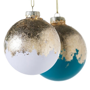 Seen here with our Golden Foil Ornament in White. White available to purchase separately.