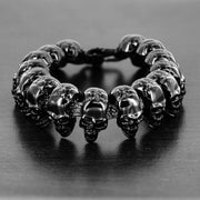 """Wild Side"" Men's Black Polished Skull Bracelet"