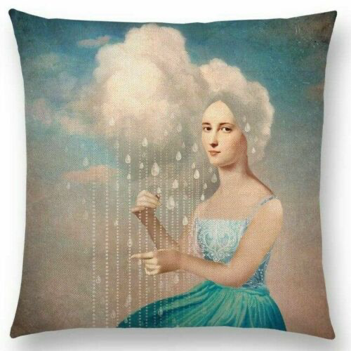 Woman in Cloud Pillow