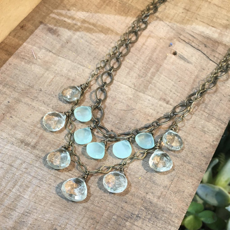 """Girls, Girls, Girls"" Green Amethyst & Mint Chalcedony Necklace"