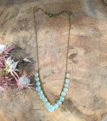 """Girls, Girls, Girls"" Mint Chalcedony Statement Necklace"
