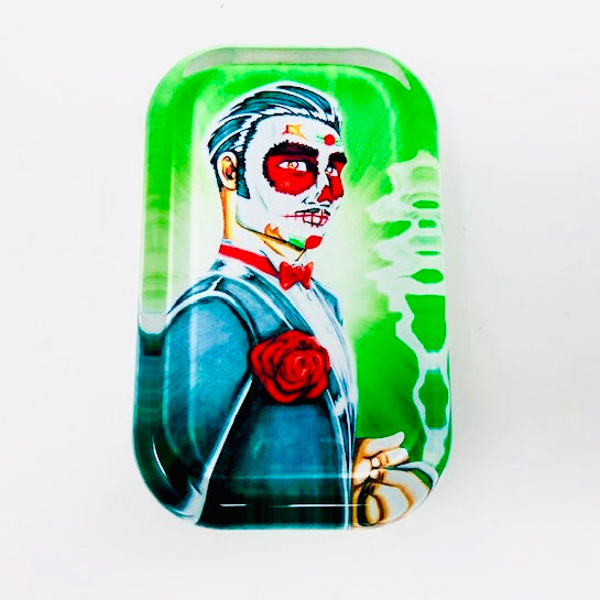 "Sugar Skull Master Marcos, ""Day of the Dead Groom"" Glass Paperweight"