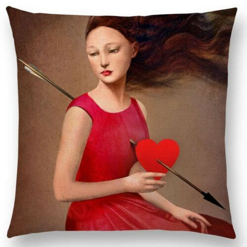 Girl with Cupid's Arrow Pillow