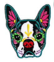 Cali's Boston Terrier Embroidered Iron-On Patch