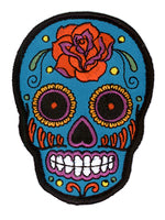 Buick Rose Sugar Skull Iron-On Patch