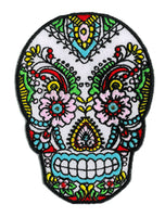 Sunny Buick Lace Sugar Skull Iron-On Patch