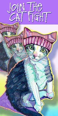 Cat Fight - Pack Of 6 Cards
