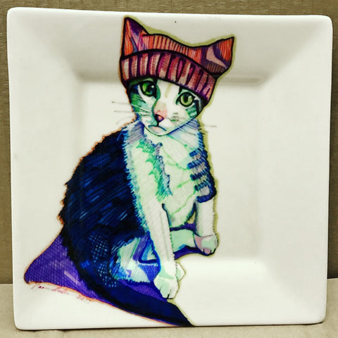 Kitty Salad/Dessert Plate - Solveig Studio