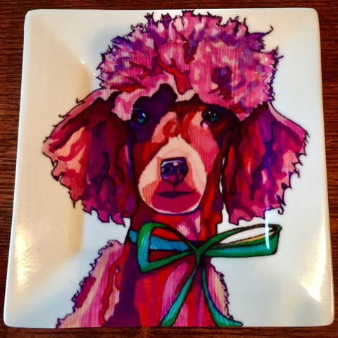Paris The Poodle Salad/Dessert Plate - Solveig Studio
