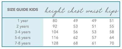 cocoi swim size guide