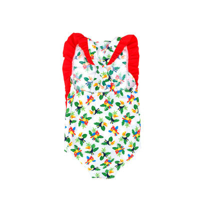 COCOi swim girls toucans one piece swimwear  back