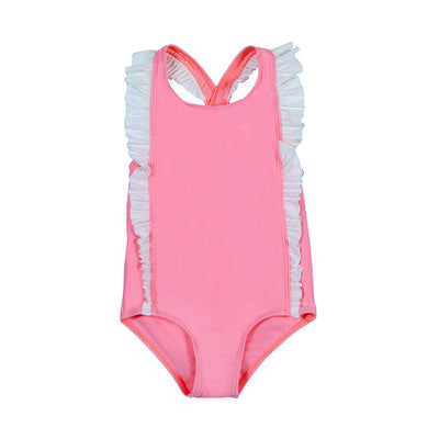 One piece swimsuit Girls COCOI firefly fucsia family sun safe UPF50+ sun protective rashguard rash vest