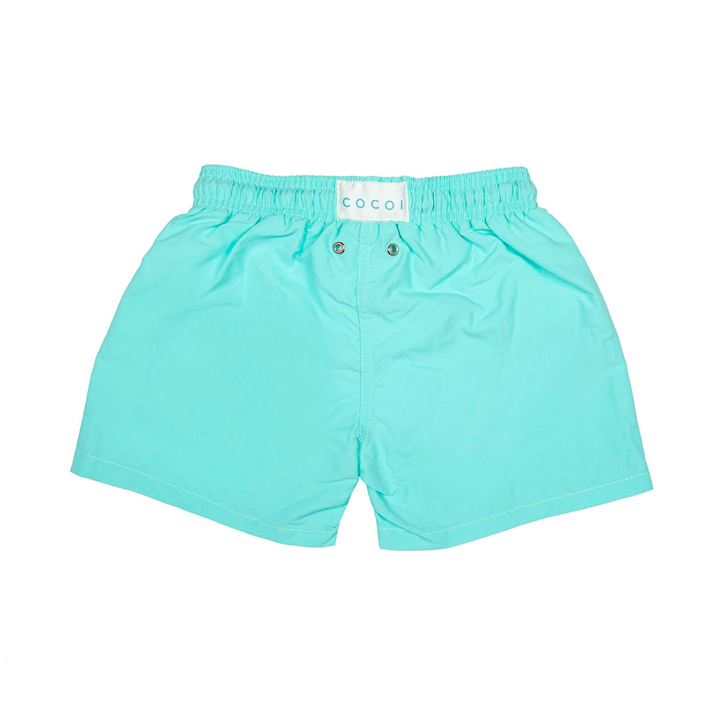 spring swimshort boy boys cocoi swim turquoise family swimwear kids children back