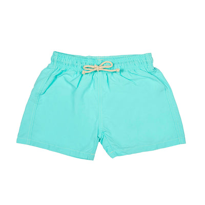 spring swimshort boy boys cocoi swim turquoise family swimwear kids children front