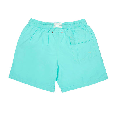 Spring men swimshort swimming trunks family swimwear ocoi swim turquoise back