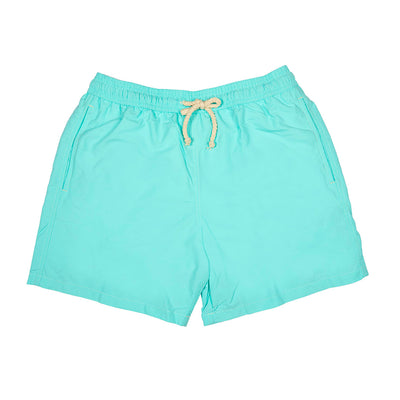 Spring men swimshort swimming trunks family swimwear cocoi swim turquoise front