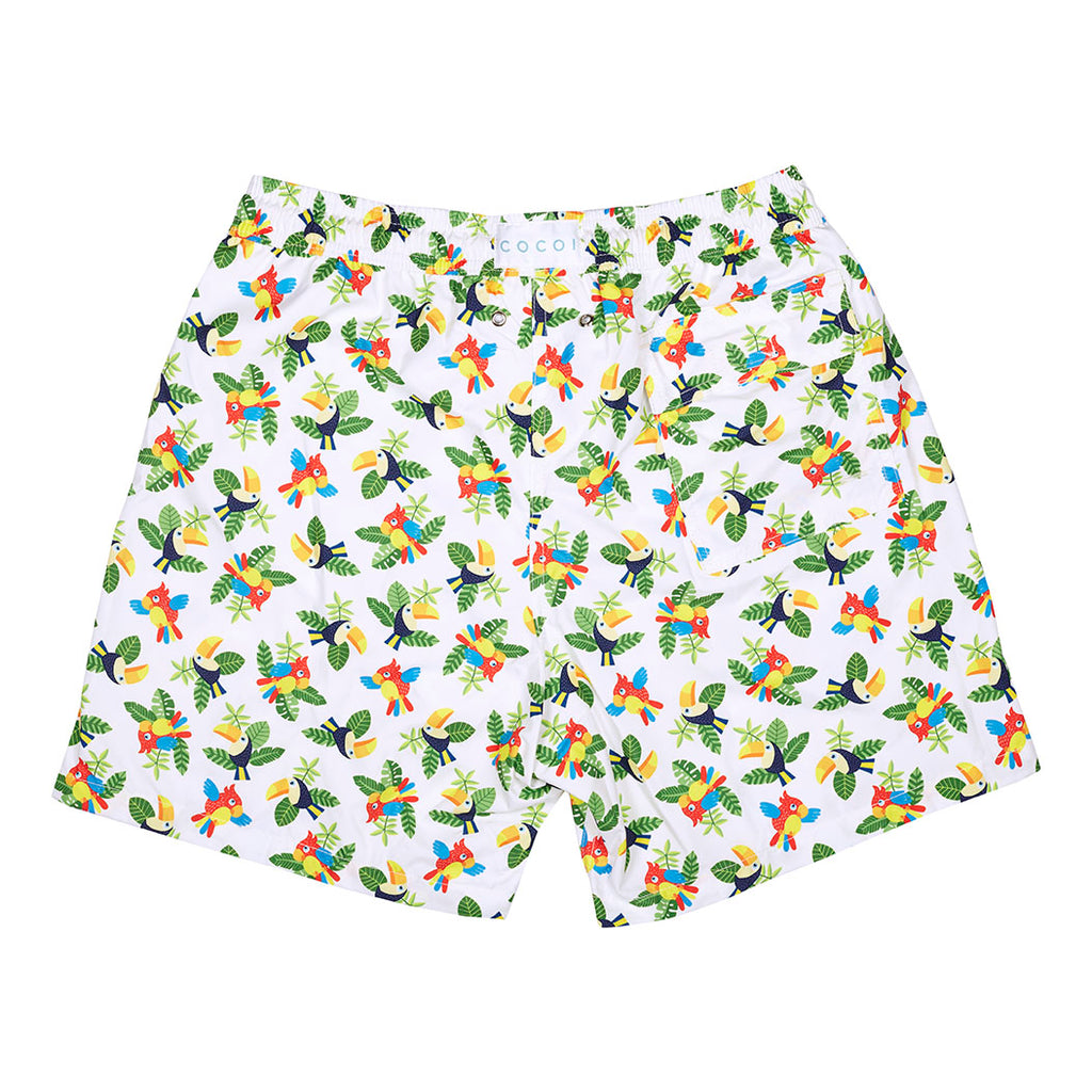 toucans men parrots cocoi swim swim shorts swimshorts swimming trunks family swimwear back